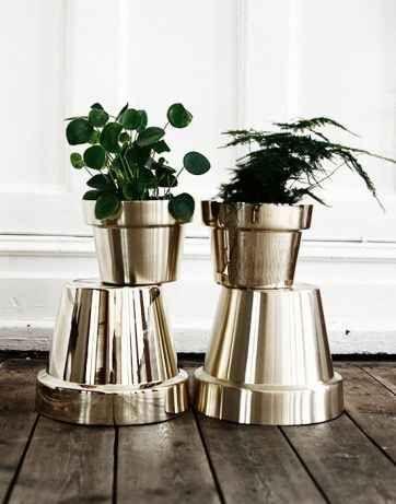 Take those orange teracotta pots to the next level.