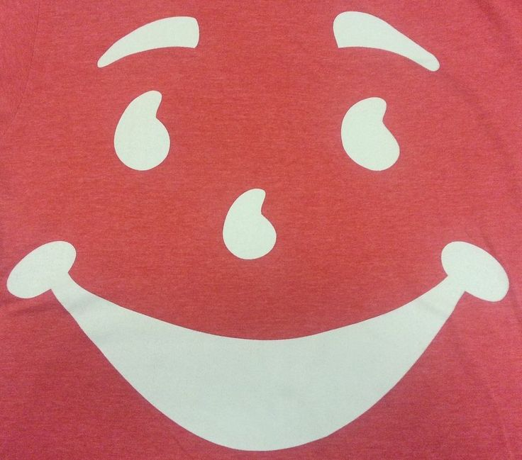 Kool Aid Man Face Oh Yeah Pink Tee Short Sleeve Crewneck M T-Shirt Cotton Blend #KoolAid #GraphicTee