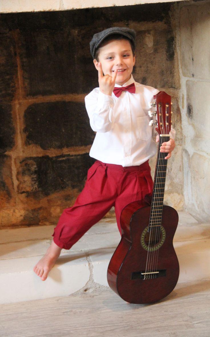 Knickers Gabin pour vos cérémonies et mariages. Enfant d'honneur.   http://www.odecreation-vetements.com/