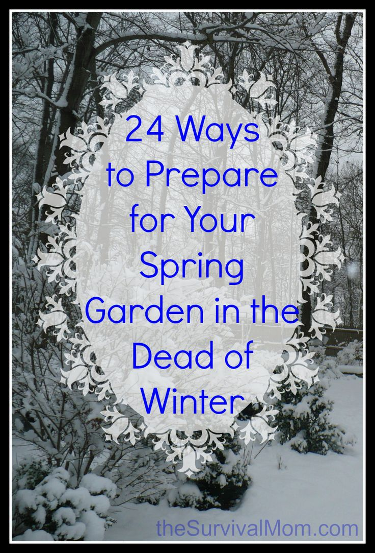 24 ways to prepare for your spring garden in the dead of winter survival mom gardens the o - Prepare garden winter ...