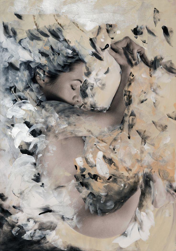 Czesław Czapliński, Alicja Domańska, Inner cocoon, fotografia, akryl na płótnie, 2015