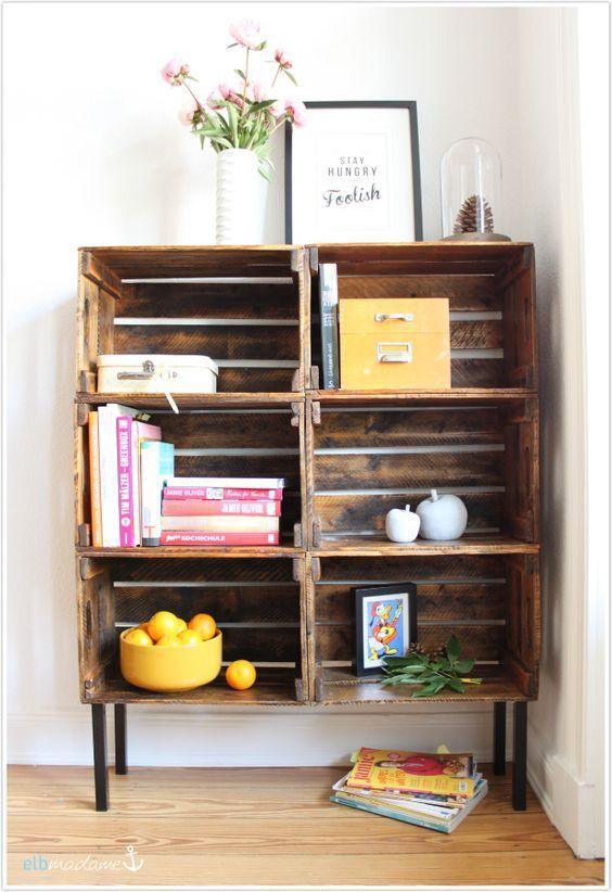 die besten 25 eckregal holz ideen auf pinterest. Black Bedroom Furniture Sets. Home Design Ideas