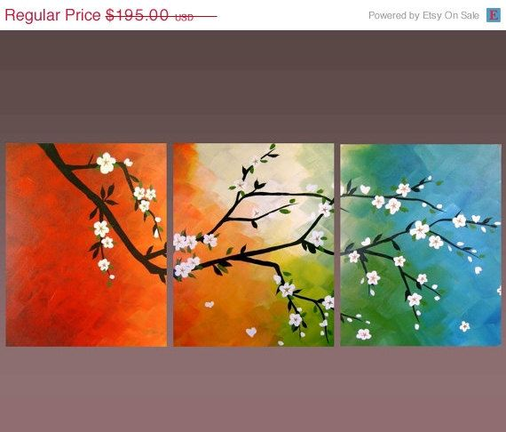 Pretty acrylic canvas paintings, I wish I knew someone who could do this for me.  I am not that crafty...