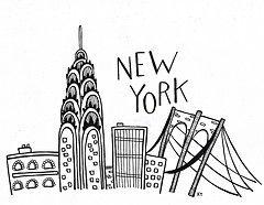 doodle drawing simple building bridge york nyc doodles newyork drawings buildings brooklyn sketch tags painting newyorkcity blackandwhite
