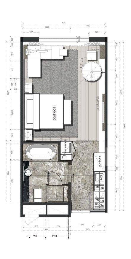 Renaissance Kuala Lumpur Hotel New Deluxe 40 sqm439 sqft  Top view  Hotel bedroom design