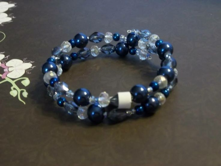Add this bracelet to a navy coloured bridesmaid dress