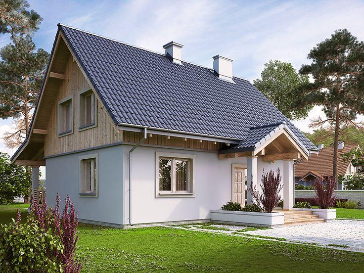 Projekt dom z tradycyjną werandą - Malinowy (118 m2). Pełna prezentacja projektu dostępna jest na stronie: https://www.domywstylu.pl/projekt-domu-malinowy.php. #projekty #projekt #domy #dom #projektdomu #projektydomow #domywstylu #mtmstyl #projektygotowe #domtradycyjny #design #homedesign #architektura #architecture