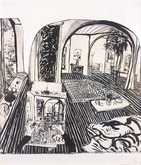 Reportaje por : Brett Whiteley | Interior Lavender Bay (I lived at Lavender Bay many years ago.)
