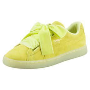 Suede Heart Reset Women's Trainers, SOFT FLUO YELLOW