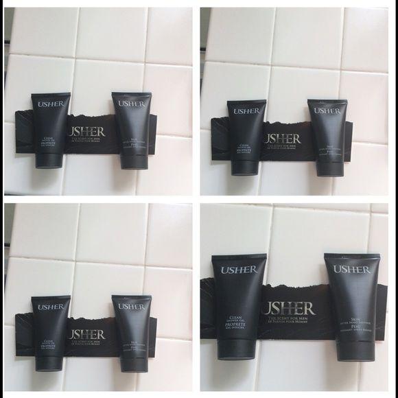 8 new Usher shower gel&after shaving smoother2.5oz 8 ( 2.5oz) usher shower gel and after shaving smoother- bundle up and save Usher Makeup Face Powder