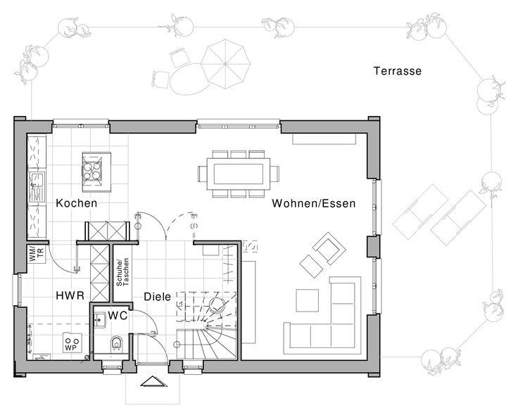382 besten grundriss einfamilienhaus bilder auf pinterest for Architektur einfamilienhaus grundrisse