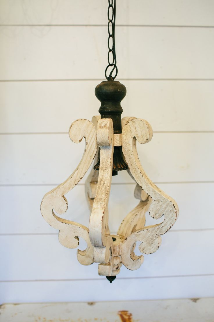 Window light fixtures magnolia market queen of everything - Distressed Cream Scroll Chandelier The Magnolia Market