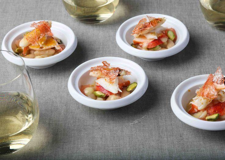 Crab with Cannellini Bean Salad and Citrus Vinaigrette