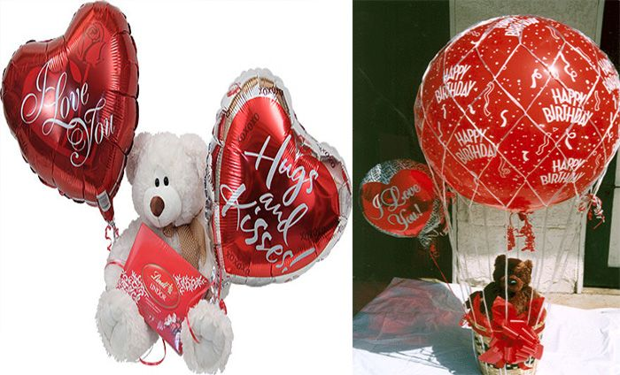 Give plush Toys with Balloon : send heart shaped balloon with cute teddy bear to your loved one.  #plushtoyswithballoons