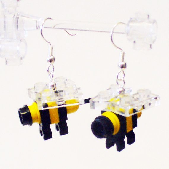 Bee Lego earrings  http://bigideamastermind.com/newmarketingidea?id=moemoney24