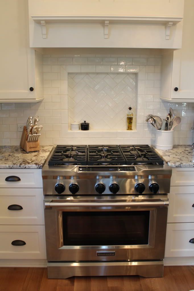Tile Backsplash In Kitchen To Go With Antique Bianco