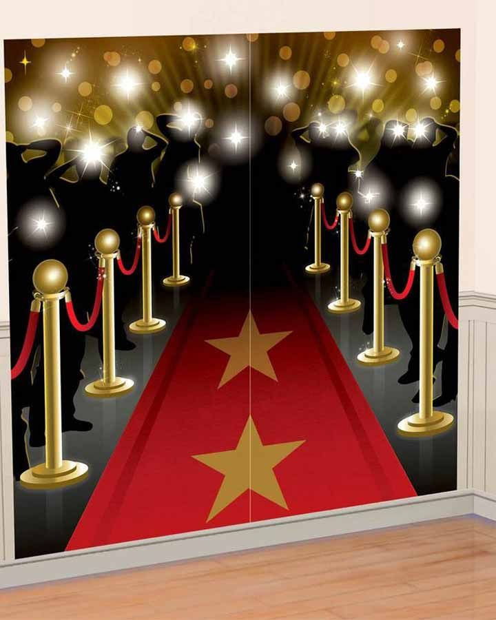 Hollywood Red Carpet Paparazzi Backdrop Party Ideas