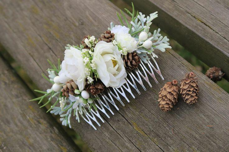 Květinový hřebínek lesní tajemství, haircomb