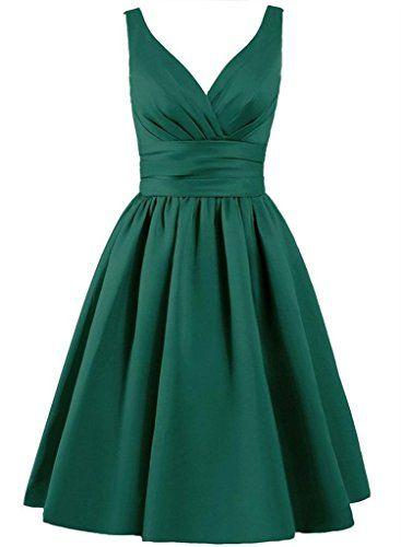 Singmo Short Satin Pleated Bridesmaid Dress V Neck Junior... https://www.amazon.com/dp/B01CP01JMU/ref=cm_sw_r_pi_dp_U8ODxb73KWZ5S