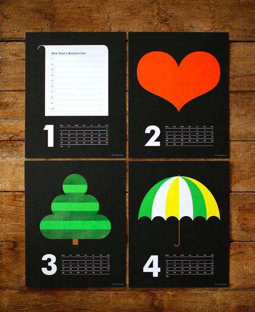 Conceptual graphic calendar 2of2