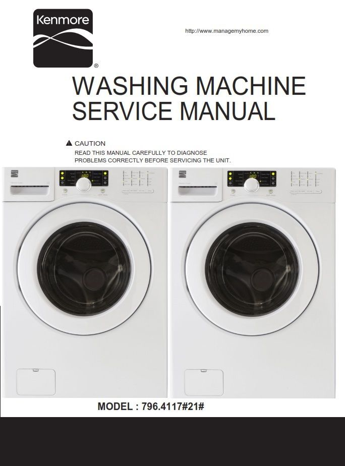Kenmore 41172 Washer Service Manual And Repair Instructions With