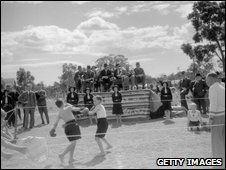 Boxing display by boys from the Fairbridge Farm School, Pinjarra, 1934
