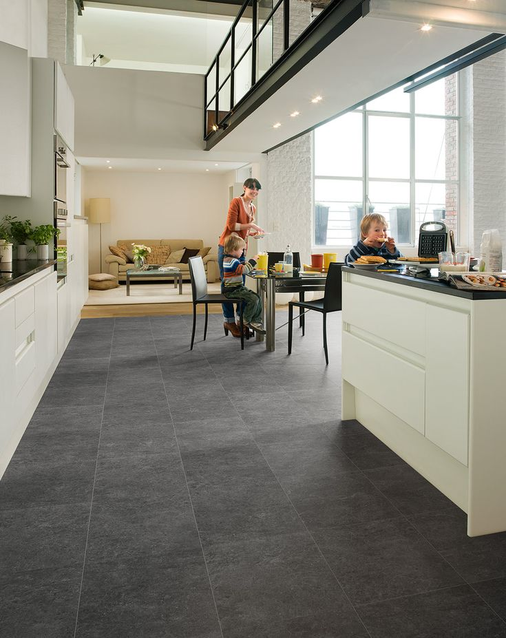 floor quick step arte polished concrete natural laminate install laminate tile flooring kitchen laminate tile - Laminate Flooring In A Kitchen