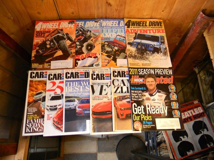 Lot of 10 Magazines Car & Driver, NASCAR Illustrated, 4 Wheel Drive 2012 - 2013