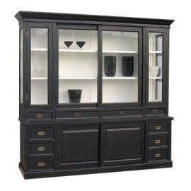 landhausstil kiefer vitrinenschrank huub landhausm bel. Black Bedroom Furniture Sets. Home Design Ideas