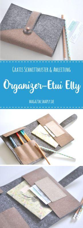 """Gratis Schnittmuster: ReLeda Stifte- und Organizer-Etui """"Elly"""""""