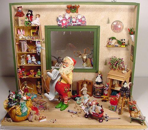 dollhouse miniature toy rooms | Santa's Workshop 1:12 Scale Dollhouse Miniature