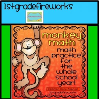 Monkey Math Math for a WHOLE YEAR for  $10.80 ???  WOW! Only until 3/24/16  www.educents.com/1stgradefireworks Math for the Entire YEAR! Math Skill Cards aligned to CCSS 20 skills for Grade 1 Cards for Bulletin Board display. Print cards, place in pockets, attach to wall. Student printables for accountability. See blogpost for more info...http://1stgradefireworks.blogspot.com/2014/09/math-for-whole-year.html