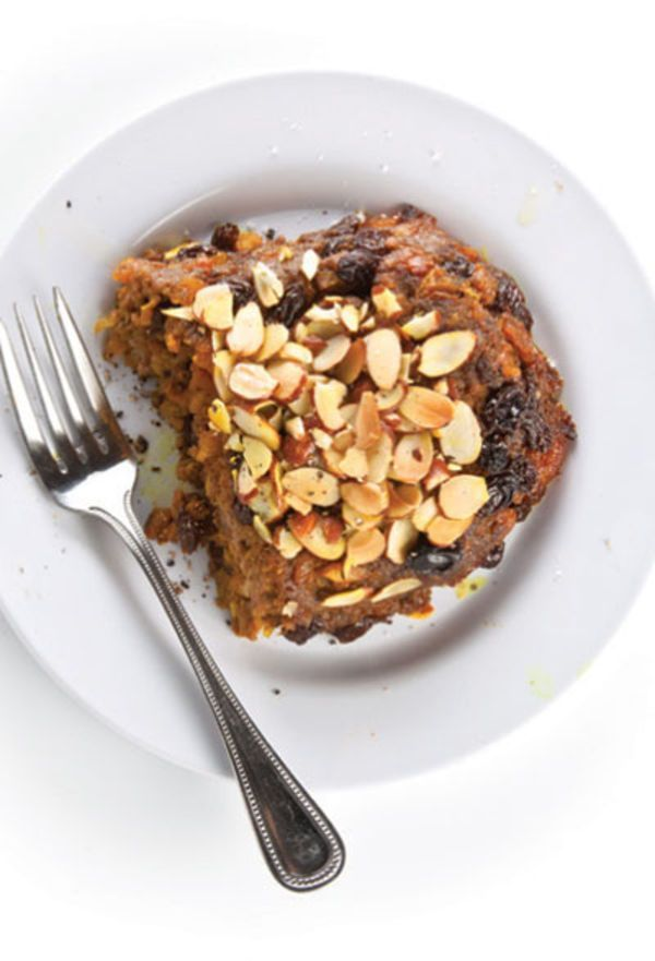The dried fruit in this curried South African meat loaf offsets its cayenne spiciness, while its almond crust adds a crunchy counterpoint to the tender ground meat.