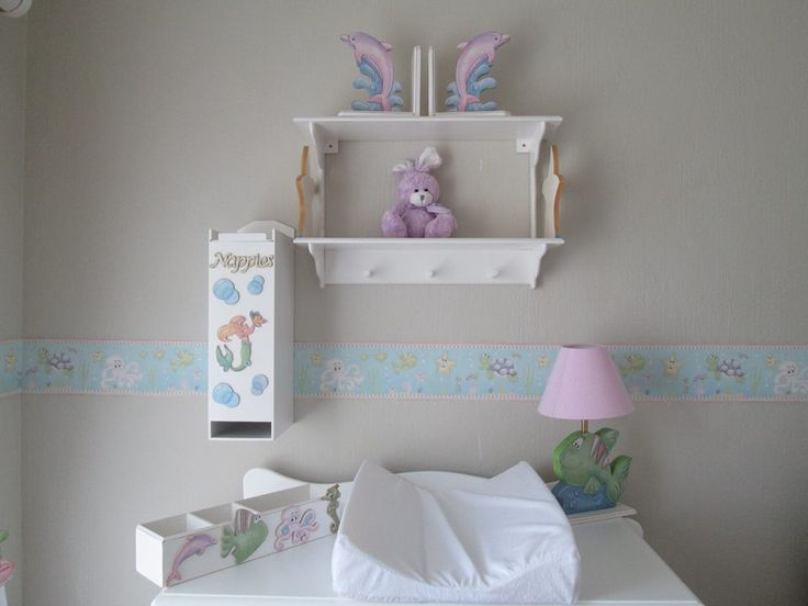 Sea creature nursery decor for girls. Linen and wallpaper borders available in South Africa. Please contact orders@borderboutique.co.za for more info!