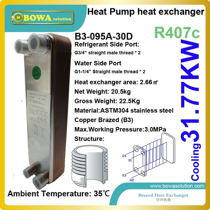 356.25$  Watch here - http://aliumk.worldwells.pw/go.php?t=32660883276 - 9TR cooling capacity  R407c to water stainless steel PHE  for  heat pump air conditioner as evaporator replace  GEA HEX