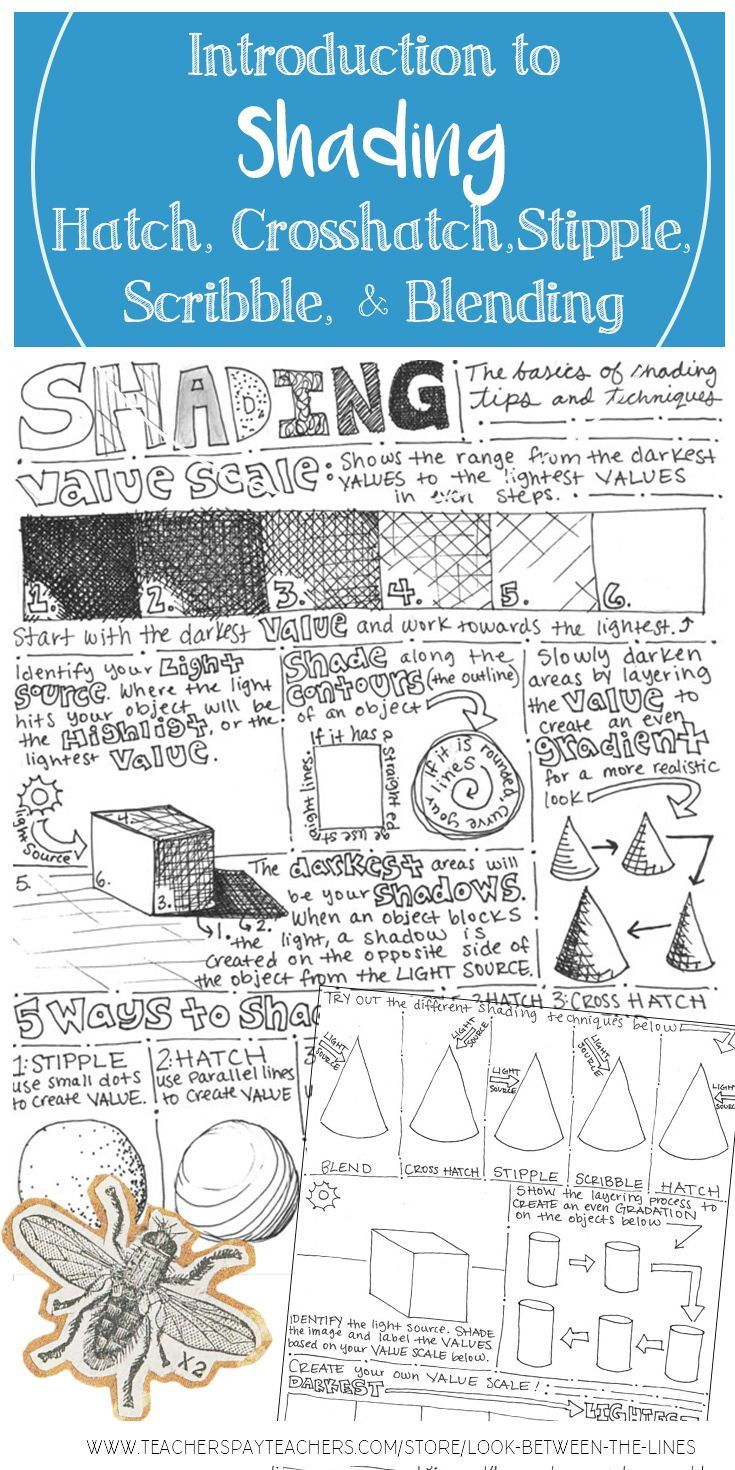 This Back And Front Visual Art Worksheet Shows Examples Of Shading Using Hatching Crosshatching Stippling Scribbl Visual Art Creative Drawing Art Worksheets