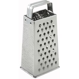 "Buy 4"" X 3"" X 9"" Stainless Steel Tapered Grater for ONLY $3.81 from CookingIdeal.. Shop wholesale restaurant supplies at CookingIdeal, guarantee low price, fast shipping, and best service."