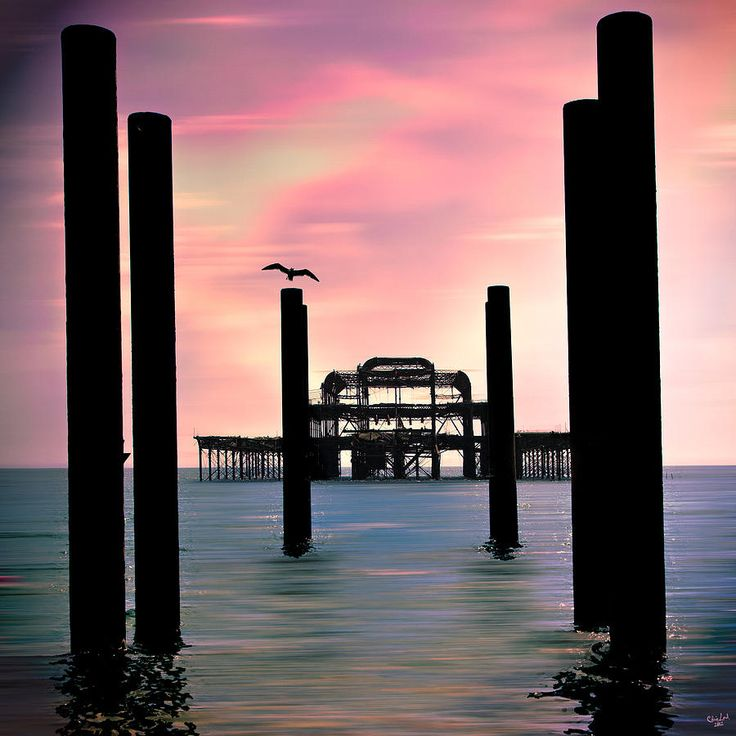 ✯ Dawn on the old West Pier at Brighton, UK - Beautiful Shot!