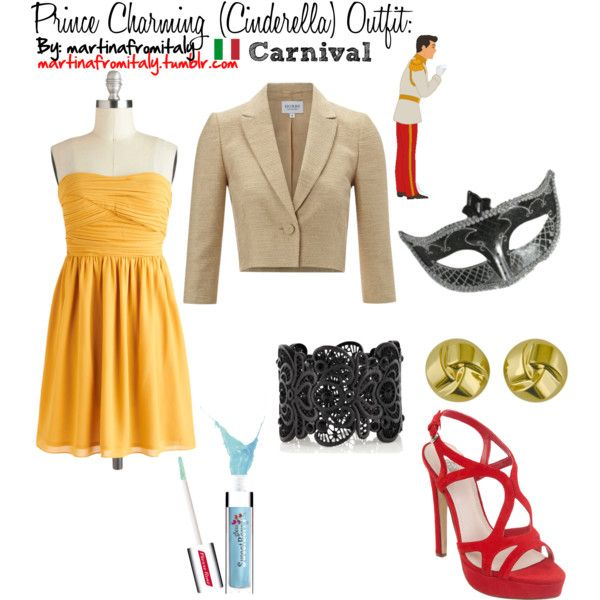 Prince Charming (Cinderella) Carnival Outfit: by martinafromitaly on Polyvore featuring Hobbs Invitation, RMK, Oasis, Lord & Taylor, Pierre René and Disney