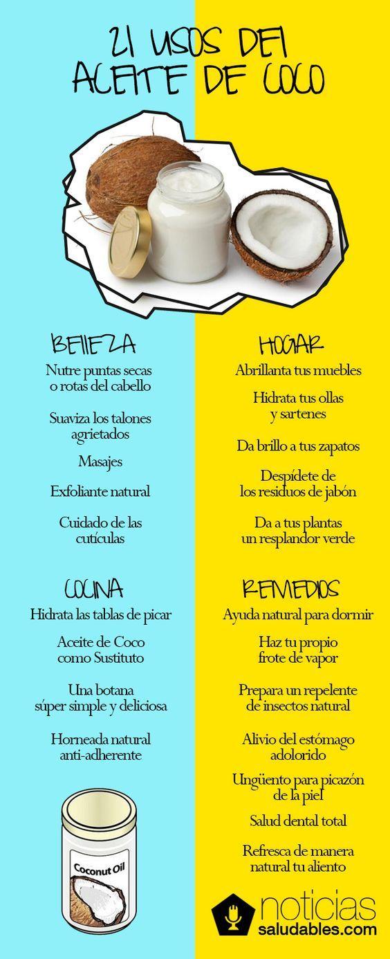 Usos del aceite de coco #Piel #ConTuMarca