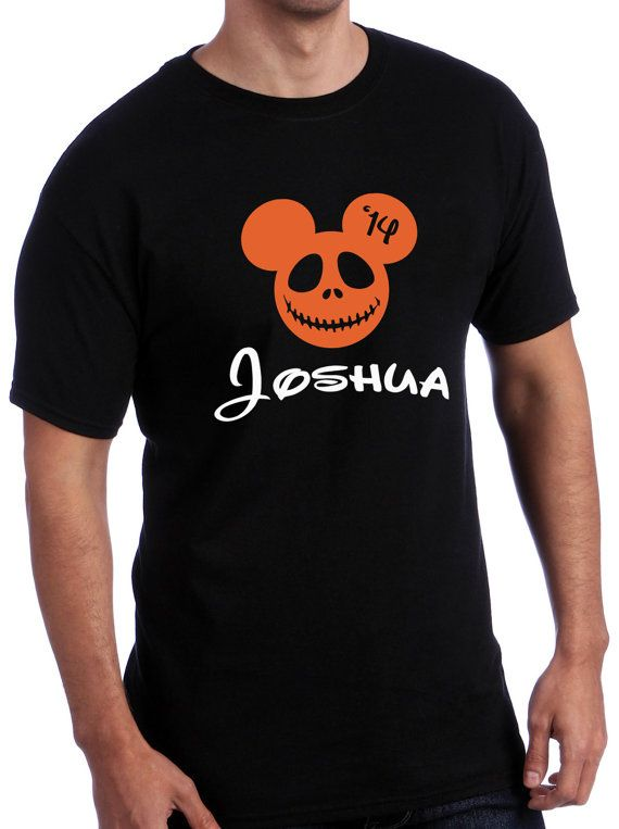 Personalized Mickey Mouse Halloween Tee Shirt / Customized Disney Halloween Tee Shirt / Pumpkin King / Nightmare Before Christmas