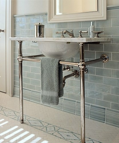 Traditional basin with washstand