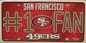San Francisco 49ers Fan Metal Novelty License Plate