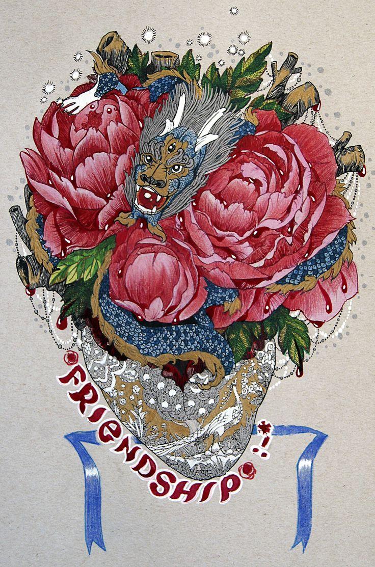 Хотелось цветы порисовать, сочные и свежие. По хорошему, надо акварель купить. #art #sketch #draw #drawing #picture #painting #inkdrawing #ink #graphic #graphicart #peony #heart #graphicart #dragon #tattoosketch #tattoo