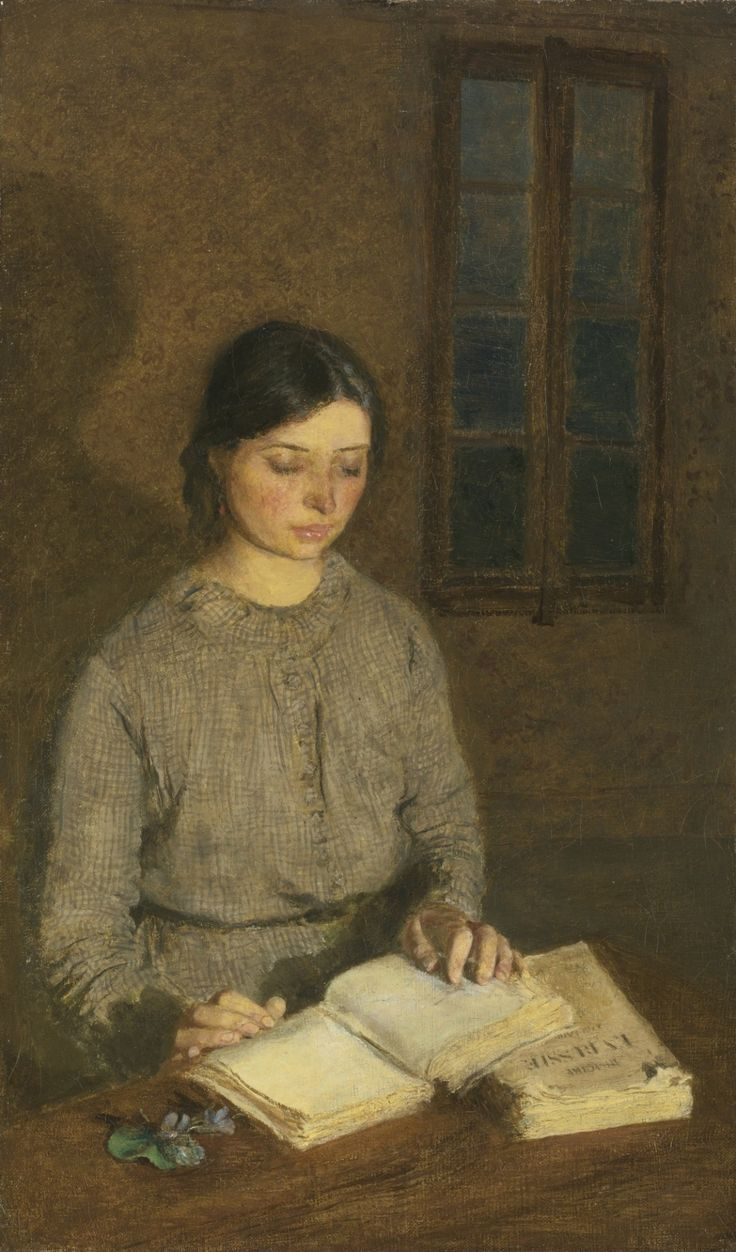 """books0977: """" Dorelia by Lamplight, at Toulouse (1903-04). Gwen John (Welsh, 1876-1939). Oil on canvas. In John's work, as in Whistler's, the atmosphere of a portrait is just as important as the..."""