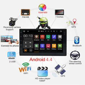 a 2din 7 touch screen fm radio bluetooth car audio stereo mp5 player camera tu7