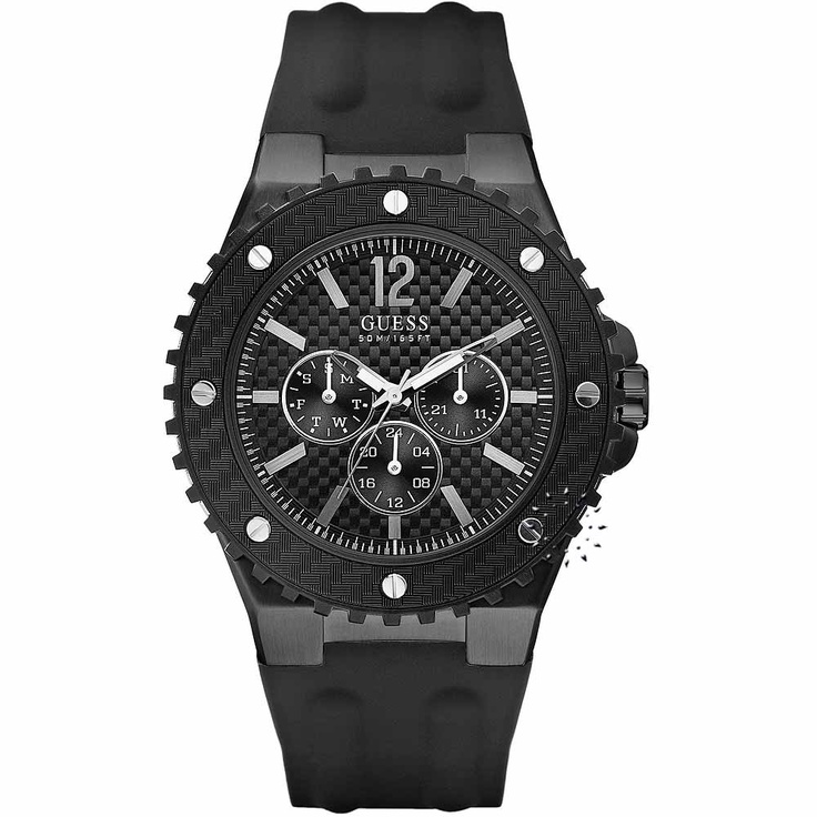 GUESS Overdrive Black Rubber Strap  143€  http://www.oroloi.gr/product_info.php?products_id=27703