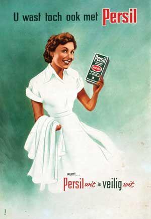 Persil poster uit 1950. Ontwerp: Ger Dorant
