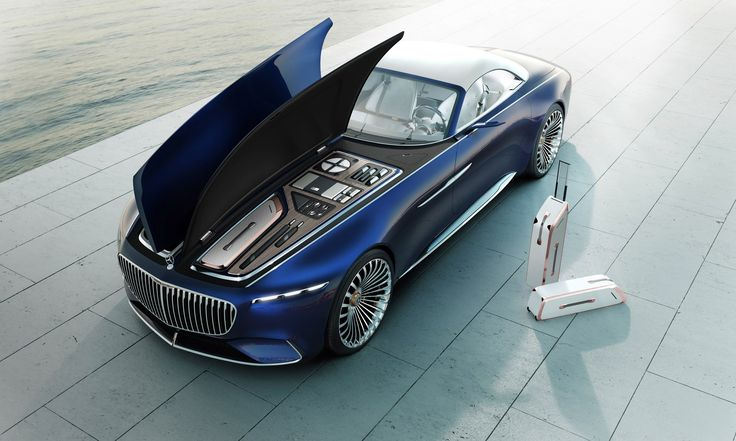 """The car's sweeping exterior is based on that of a yacht, and is painted in a dark blue named """"nautical blue metallic"""", with chrome highlights on its sides, bonnet and boot.    The grille is based on the lines on a pinstripe suit, while alloy wheels are plated with rose gold."""