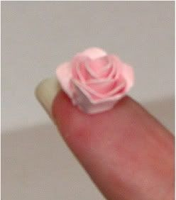 Around the Block with scrapalette: Teeny Tiny Rose Tutorial